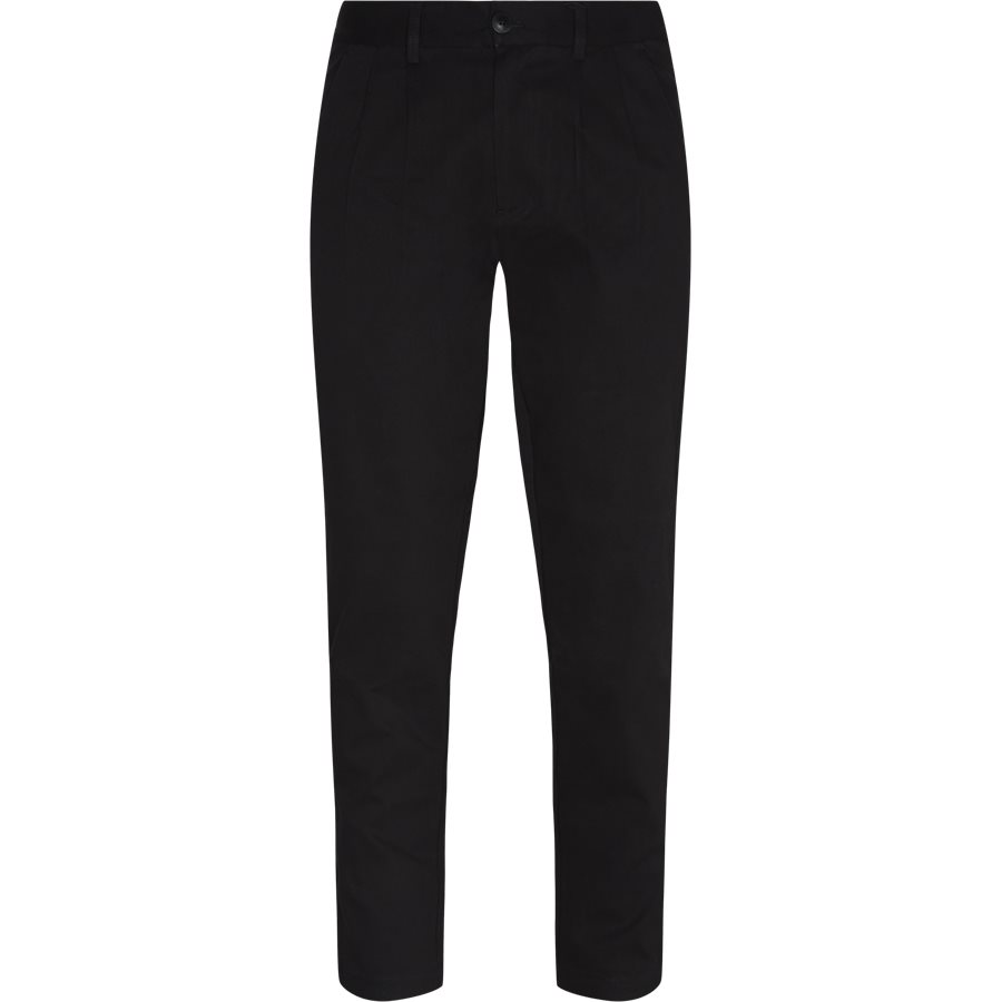APOLLO TWILL - Apollo Twill Chino - Bukser - Regular - SORT - 1