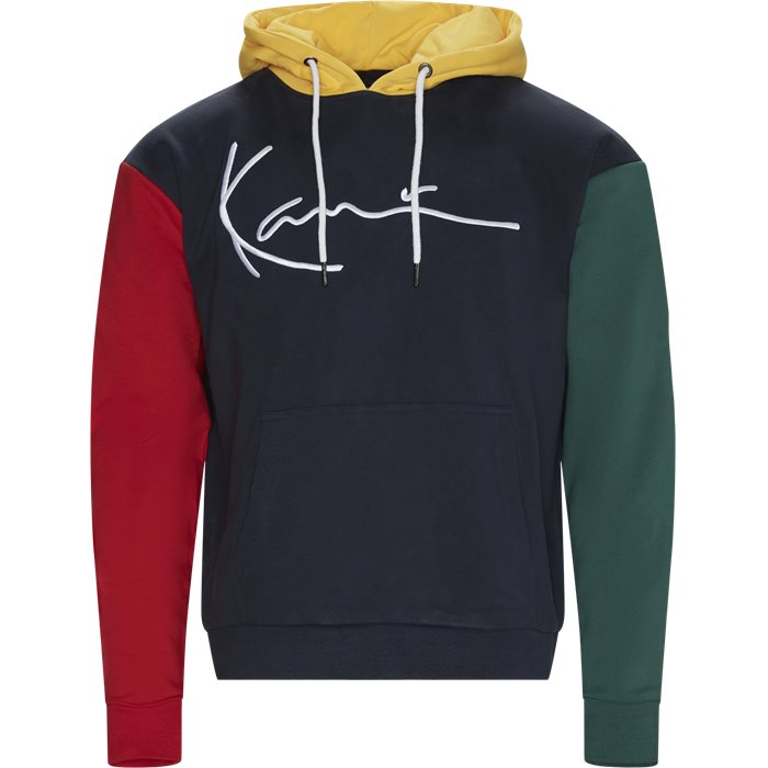 Signature Block Hoodie - Sweatshirts - Regular - Blå