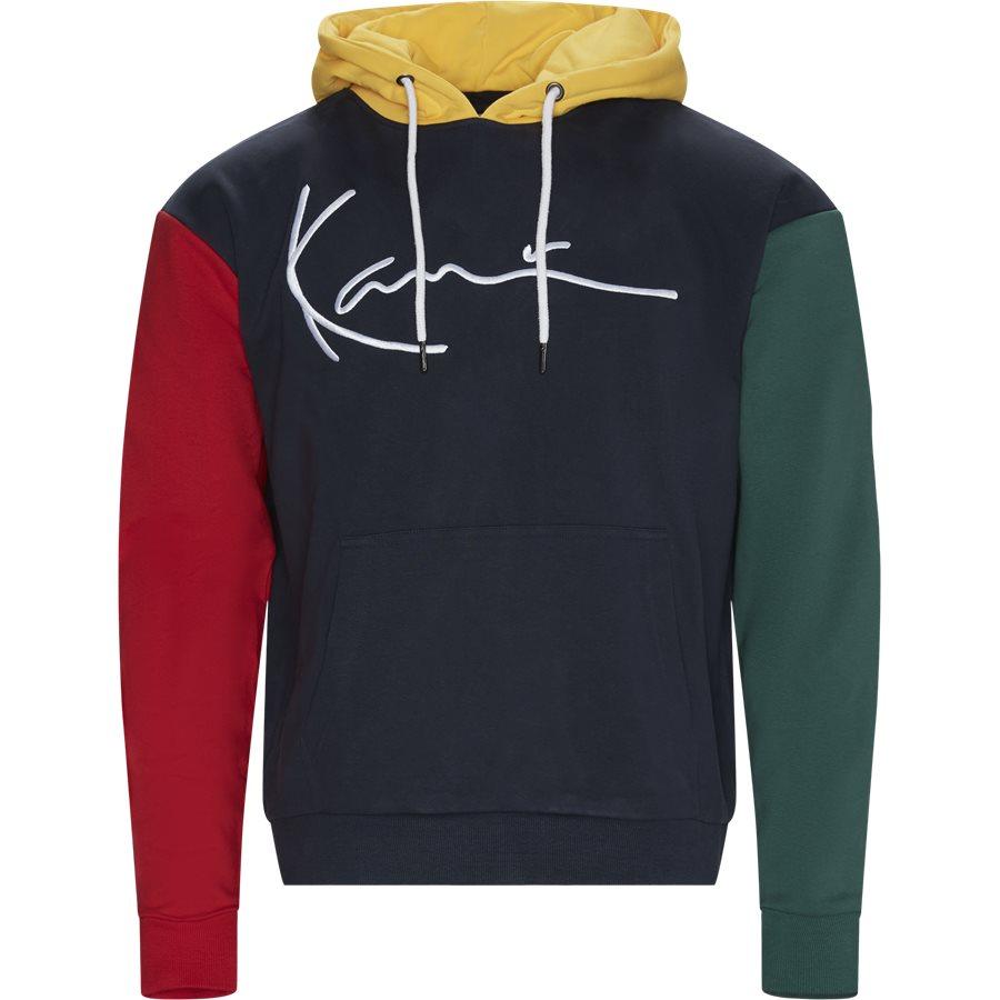 SIGNATURE BLOCK HOODIE 3749001 - Signature Block Hoodie - Sweatshirts - Regular - NAVY - 1