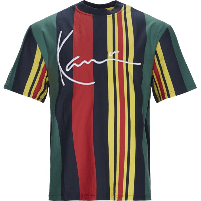 Signature Stripe Tee - T-shirts - Regular - Grøn