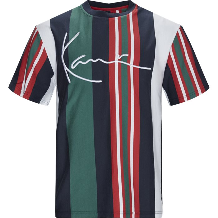 Signature Stripe Tee - T-shirts - Regular - Hvid