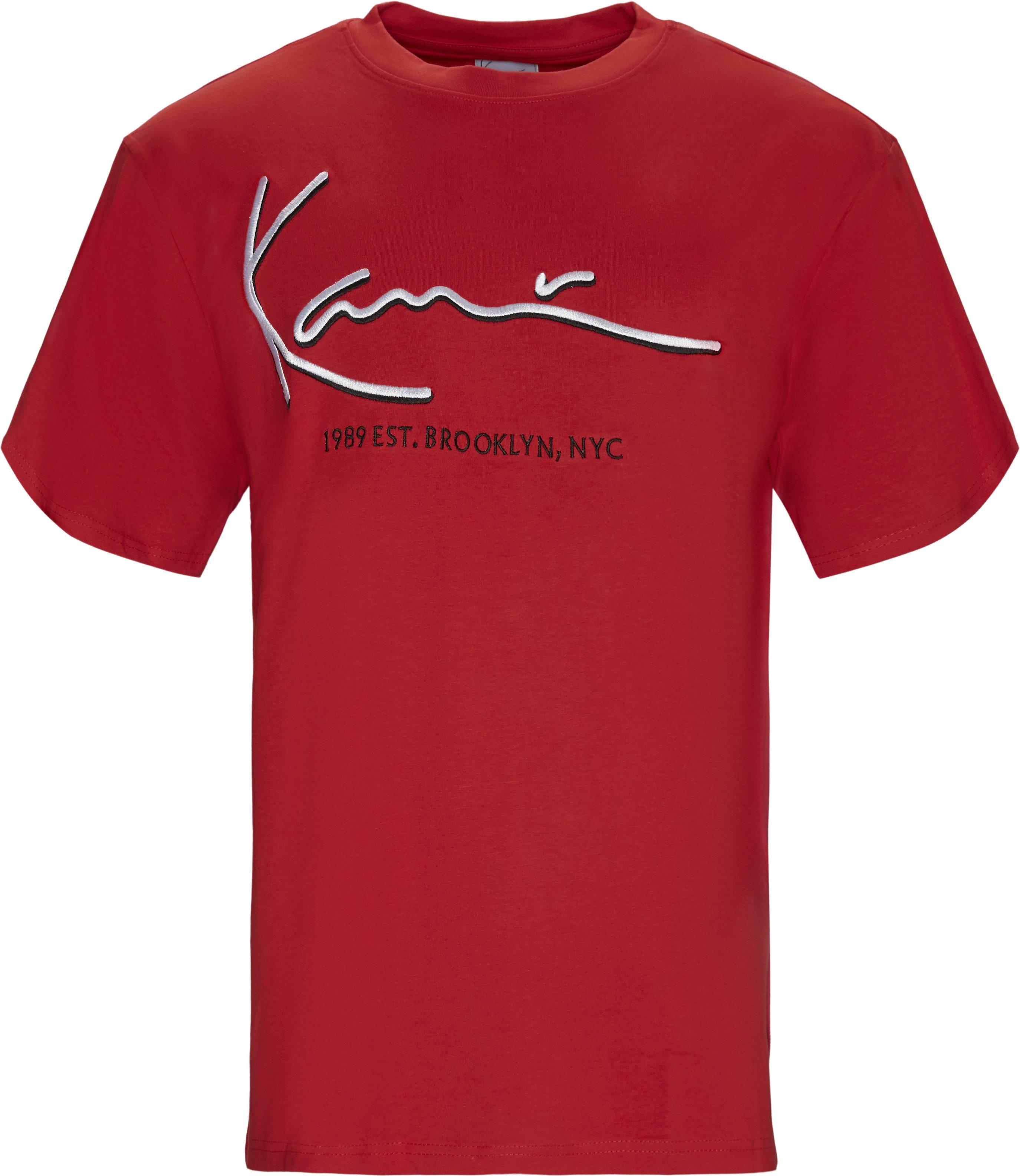 Signature Tee - T-shirts - Regular - Rød