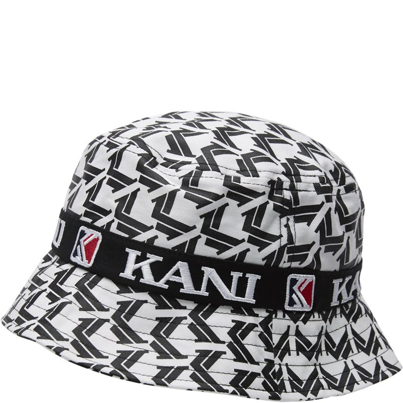 Image of   Karl Kani Retro Bucket Hat Hvid/sort