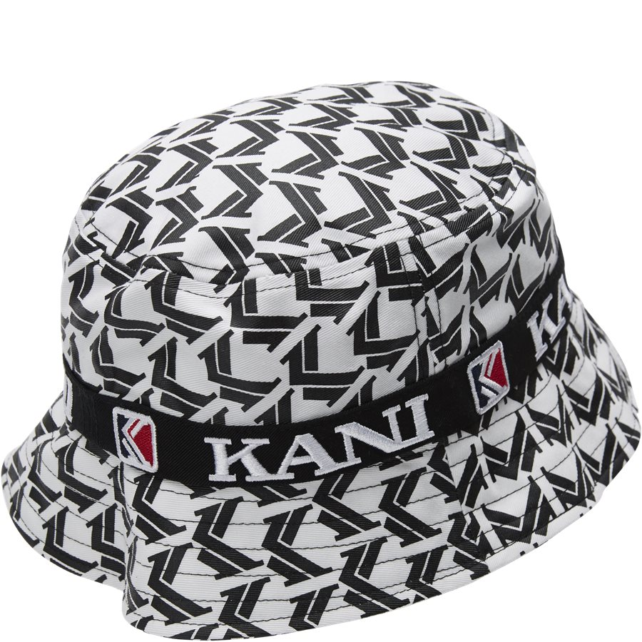 RETRO BUCKET HAT 3748169 - Retro Bucket Hat - Caps - HVID/SORT - 2