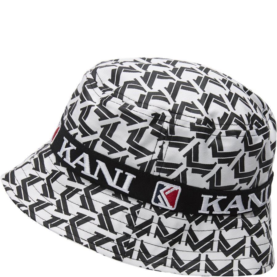 RETRO BUCKET HAT 3748169 - Retro Bucket Hat - Caps - HVID/SORT - 3