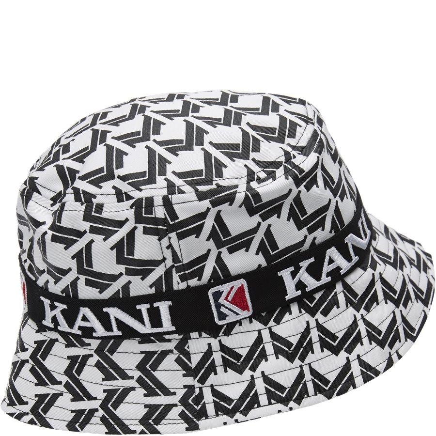 RETRO BUCKET HAT 3748169 - Retro Bucket Hat - Caps - HVID/SORT - 4