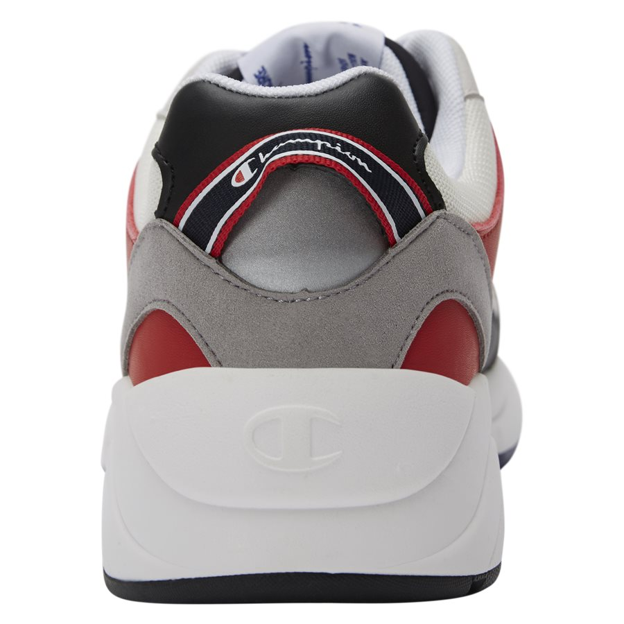 LEXINGTON SUEDE S21217 - Lexington Suede Sneaker - Sko - HVID/RØD - 7