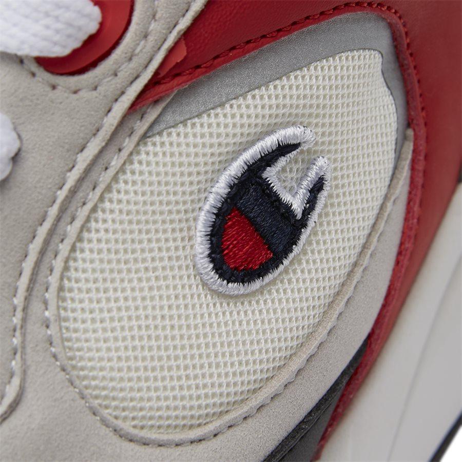 LEXINGTON SUEDE S21217 - Lexington Suede Sneaker - Sko - HVID/RØD - 10