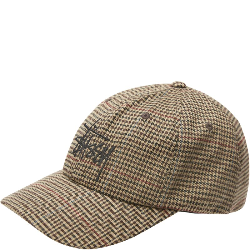Image of   Stüssy Check Low Pro Cap Camel