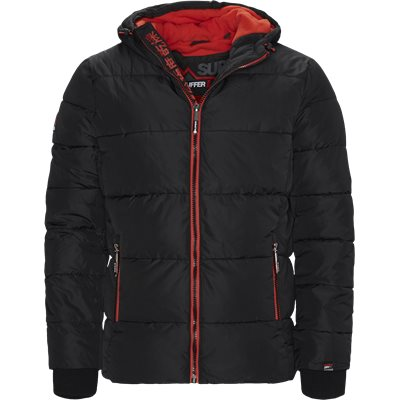Sports Puffer Jacket Regular | Sports Puffer Jacket | Sort
