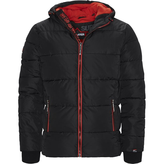 Sports Puffer Jacket - Jakker - Regular - Sort