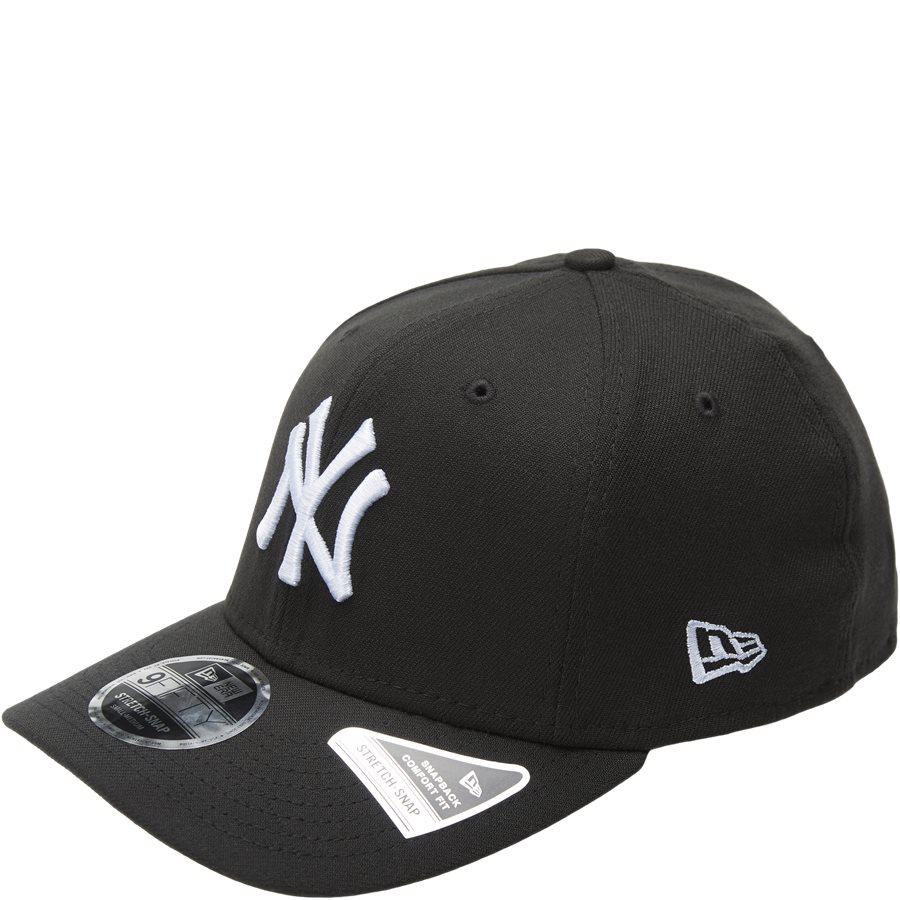 950 NY SNAP 11871279 - NY Snapback Cap - Caps - SORT/HVID - 1