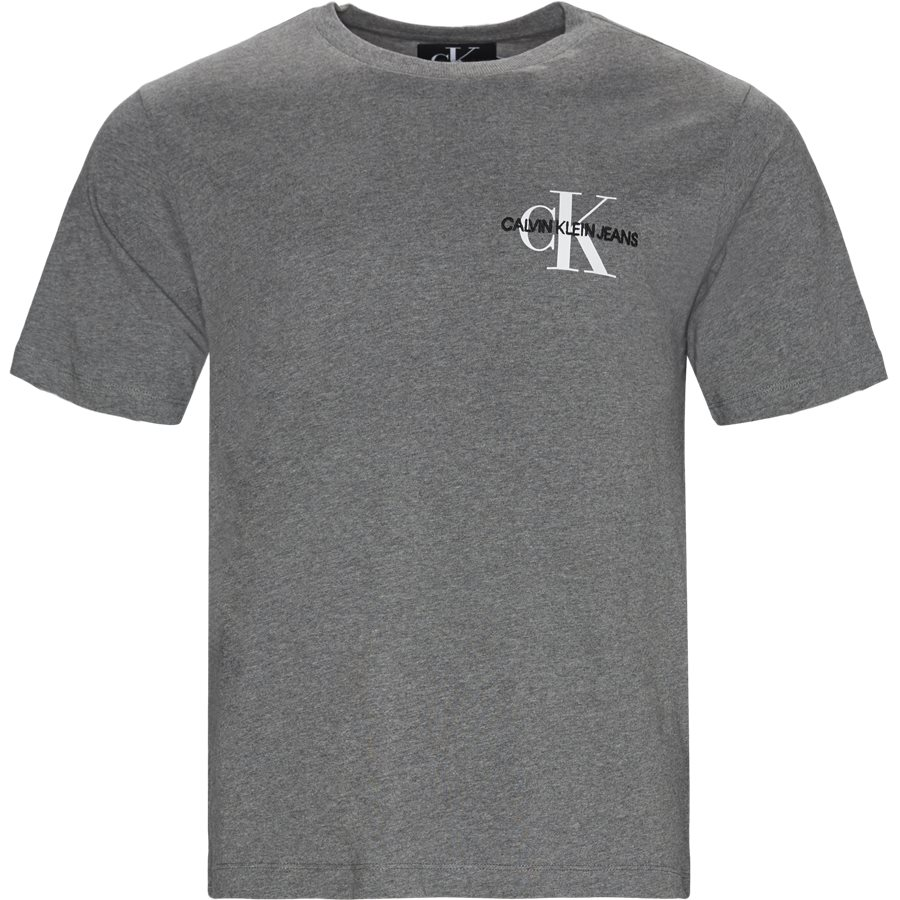MONOGRAM EMBRO SS - T-shirts - GRÅ - 1
