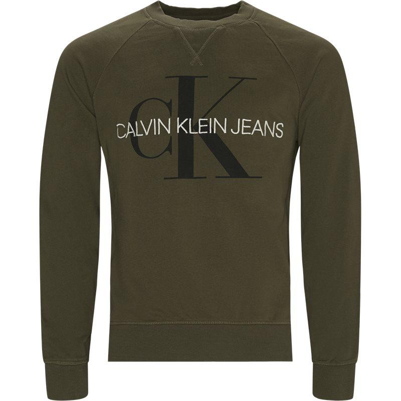 Image of   Calvin Klein Monogram Crewneck Sweatshirt Grøn