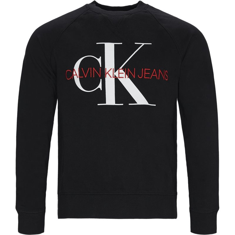 Image of   Calvin Klein Monogram Crewneck Sweatshirt Sort