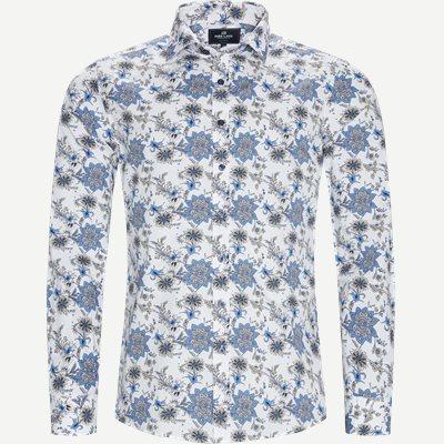 Blomstret Skjorte Regular | Blomstret Skjorte | Hvid