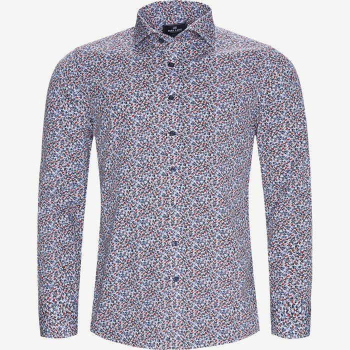 Blomstret Skjorte - Skjorter - Slim - Blå