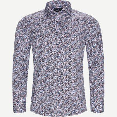 Blomstret Skjorte Slim | Blomstret Skjorte | Blå