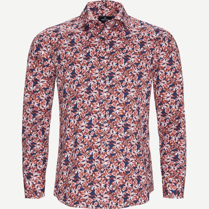 Blomstret Skjorte - Skjorter - Regular - Rød