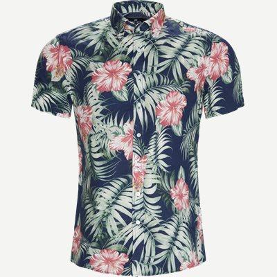 Kortærmet Skjorte Regular | Kortærmet Skjorte | Blå