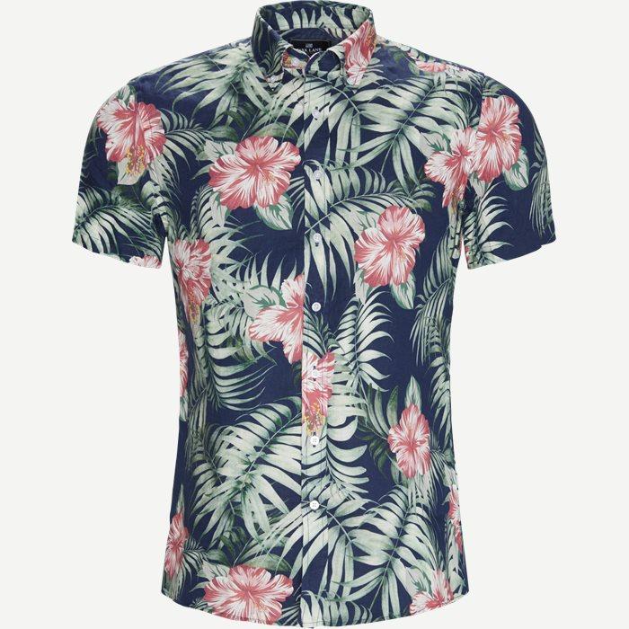 Kortærmet Skjorte - Kortærmede skjorter - Regular - Blå