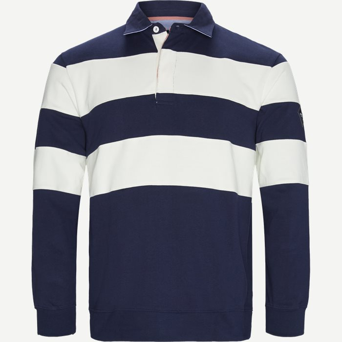 Langærmet Polo T-shirt - T-shirts - Regular - Hvid