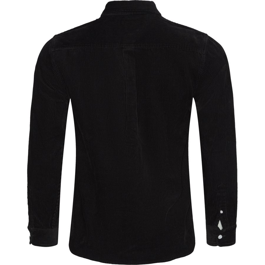 L/S MADISON CORD I025247 - Shirts - BLK/WHI - 2