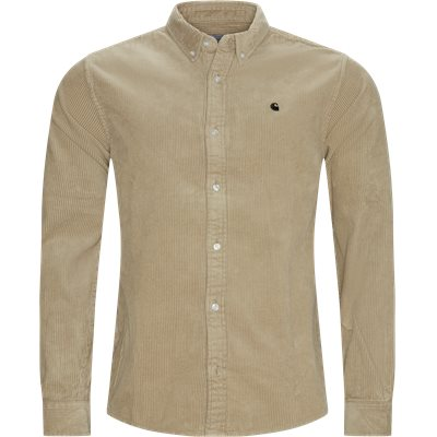 LS Madison Cord Shirt Regular | LS Madison Cord Shirt | Sand