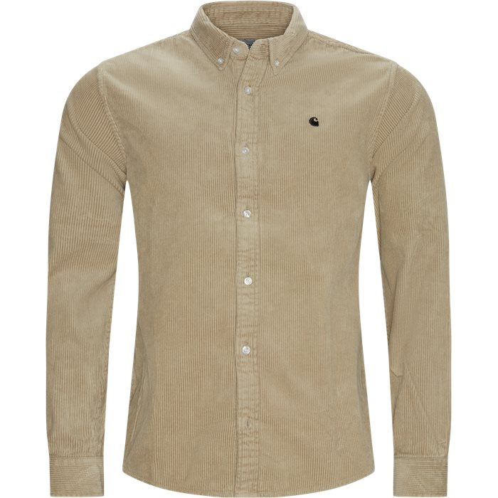 LS Madison Cord Shirt - Skjorter - Regular - Sand
