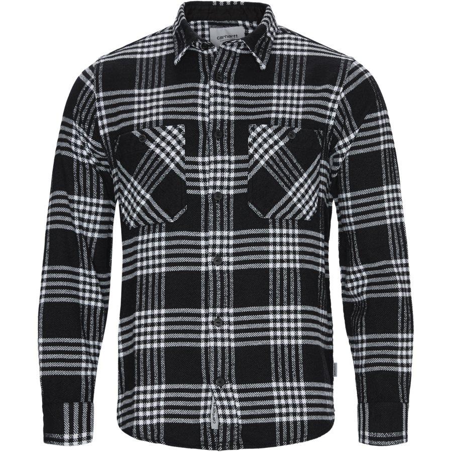 L/S LAMBIE SHIRT I026821 - L/S Lambie Shirt - Skjorter - Loose - CHECK/BLK/WHI - 1