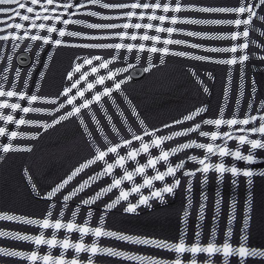 L/S LAMBIE SHIRT I026821 - L/S Lambie Shirt - Skjorter - Loose - CHECK/BLK/WHI - 5