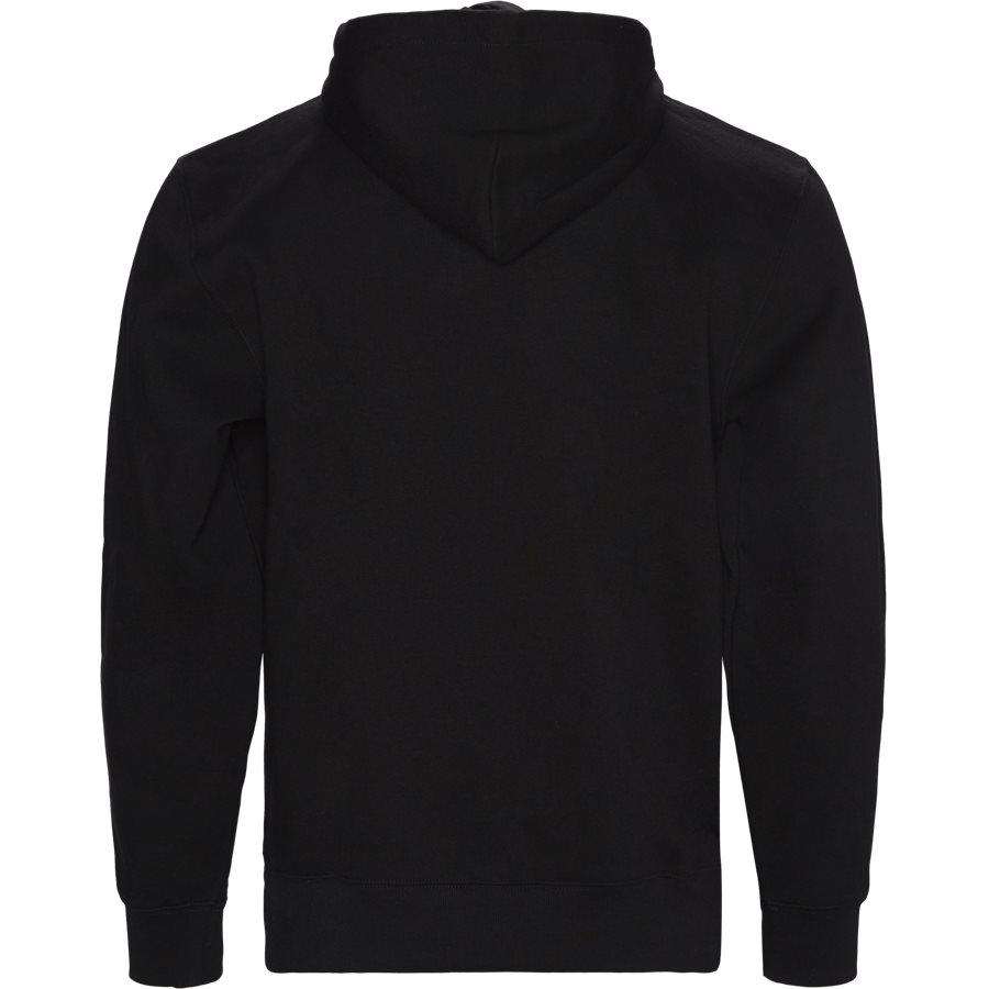 HOODED T. EMBRO. I027032 - Hooded Theory Embroidery Sweatshirt - Sweatshirts - Regular - BLACK/COLZA - 2