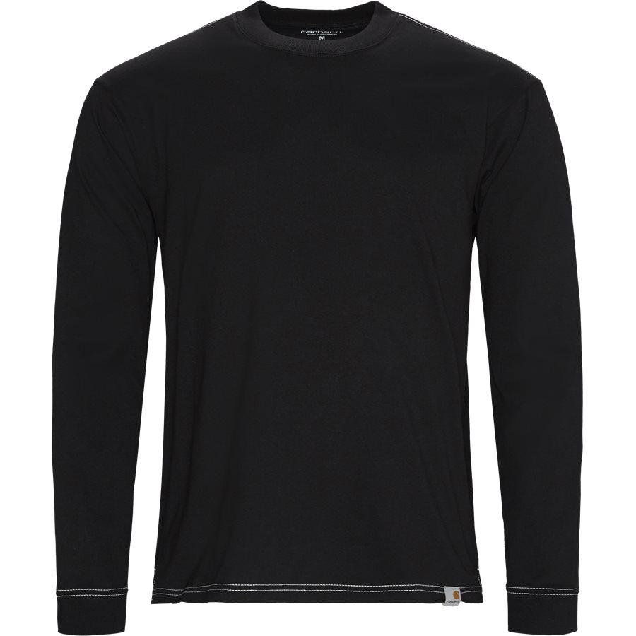 L/S NEBRASKA I026993 - L/S Nebraska Tee - T-shirts - Regular - BLK/WHI - 1