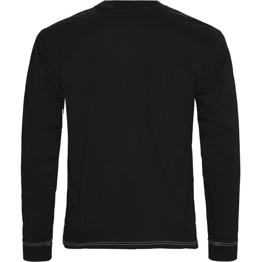 L/S NEBRASKA I026993 - L/S Nebraska Tee - T-shirts - Regular - BLK/WHI - 2