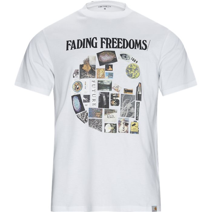 S/S Fading Tee - T-shirts - Regular - Hvid