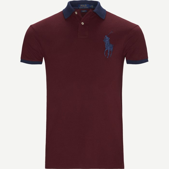 Big Pony Polo Shirt - T-shirts - Slim - Bordeaux