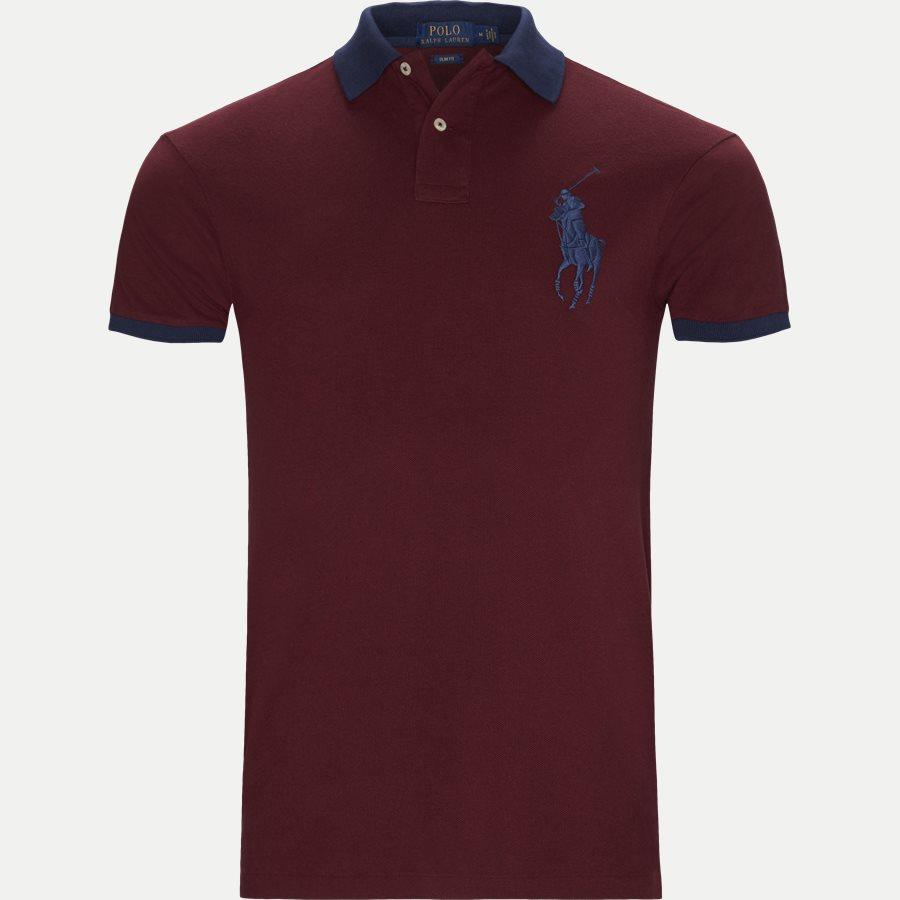 710524117 - Big Pony Polo Shirt - T-shirts - Slim - BORDEAUX - 1