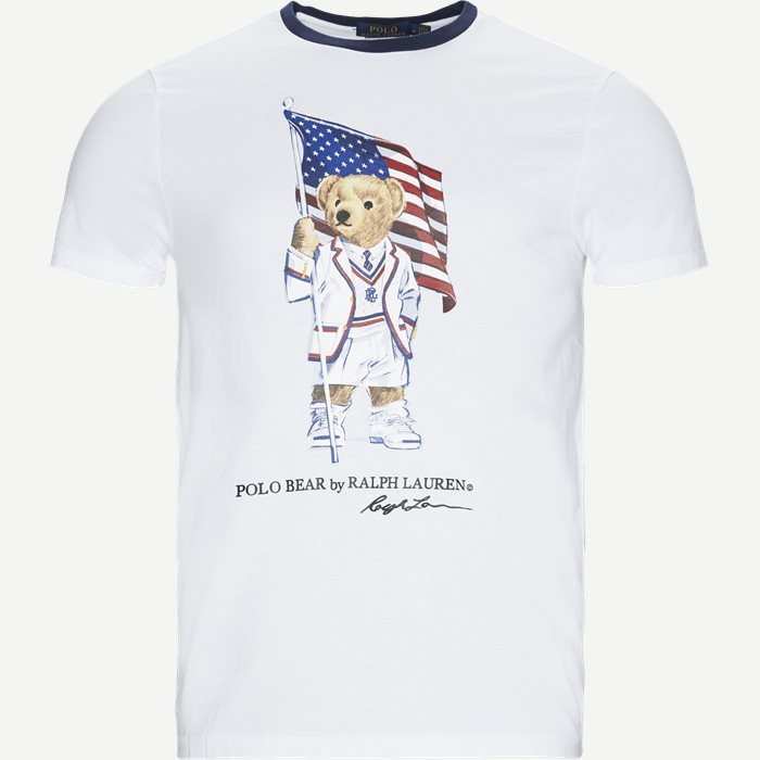 Polo Bear T-shirt - T-shirts - Regular slim fit - Hvid
