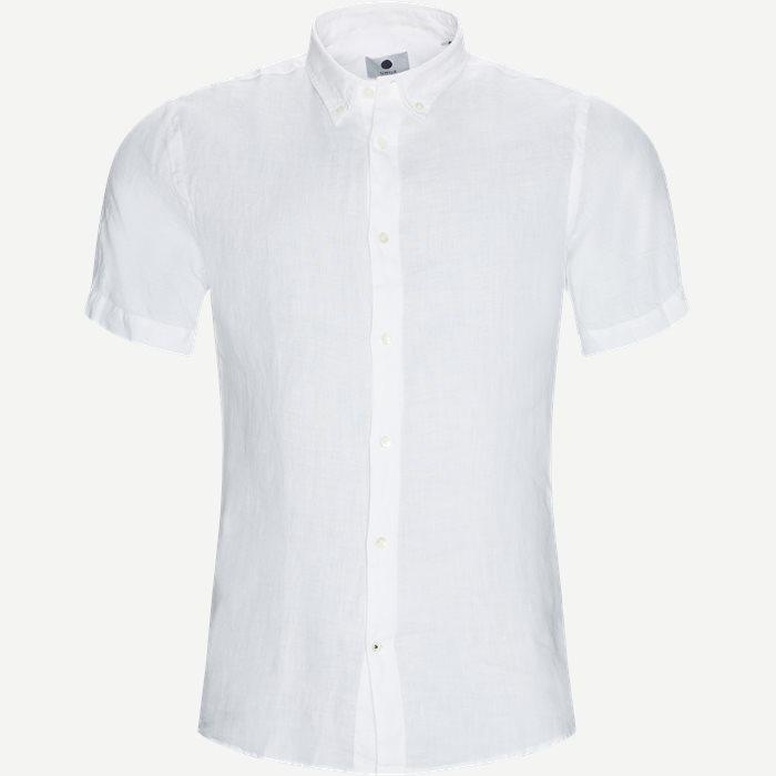 SH New Derek Skjorte - Kortærmede skjorter - Regular - Hvid