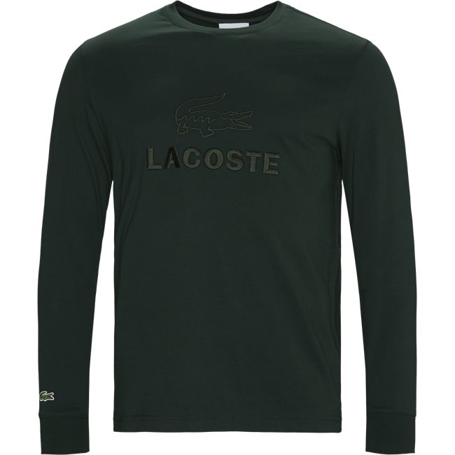 Tone-On-Tone Lacoste Embroidery Cotton T-shirt