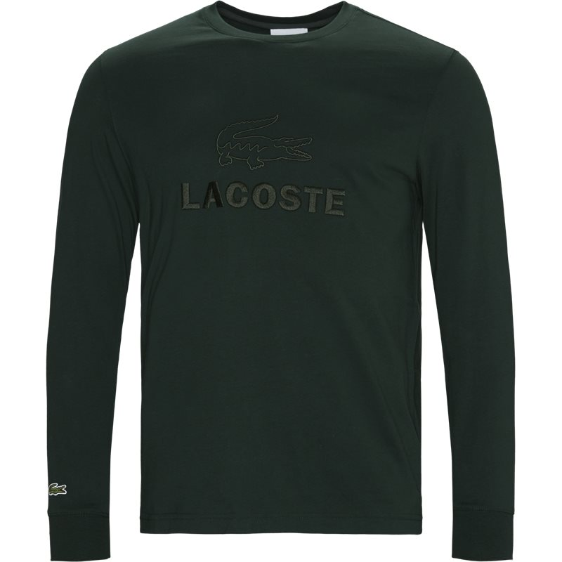 Image of   Lacoste Tone-on-tone Lacoste Embroidery Cotton T-shirt Grøn