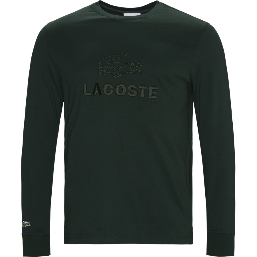 TH8638 - Tone-On-Tone Lacoste Embroidery Cotton T-shirt - T-shirts - Regular - GRØN - 1