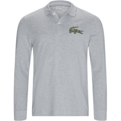 Multiple Croc LS Polo T-shirt Regular | Multiple Croc LS Polo T-shirt | Grå
