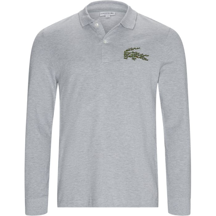 Multiple Croc LS Polo T-shirt - T-shirts - Regular - Grå
