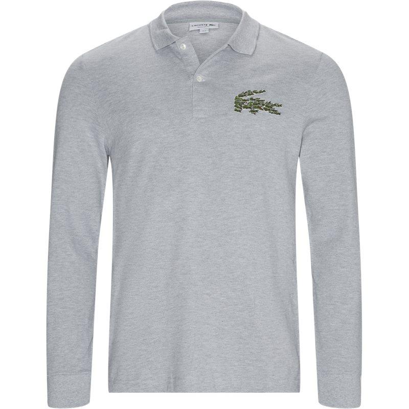 Image of   Lacoste Multiple Croc Ls Polo T-shirt Grå