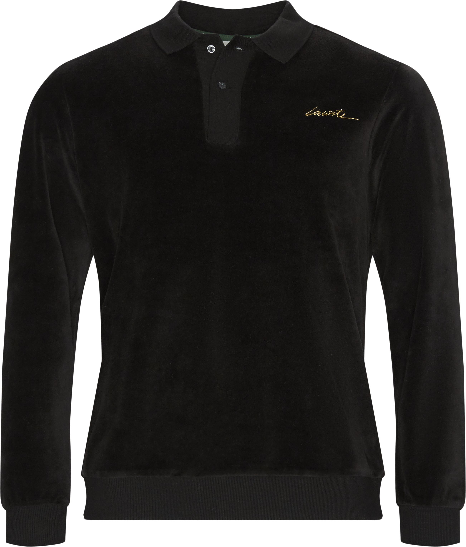 Velvet Polo Shirt - Poloer - Regular - Sort