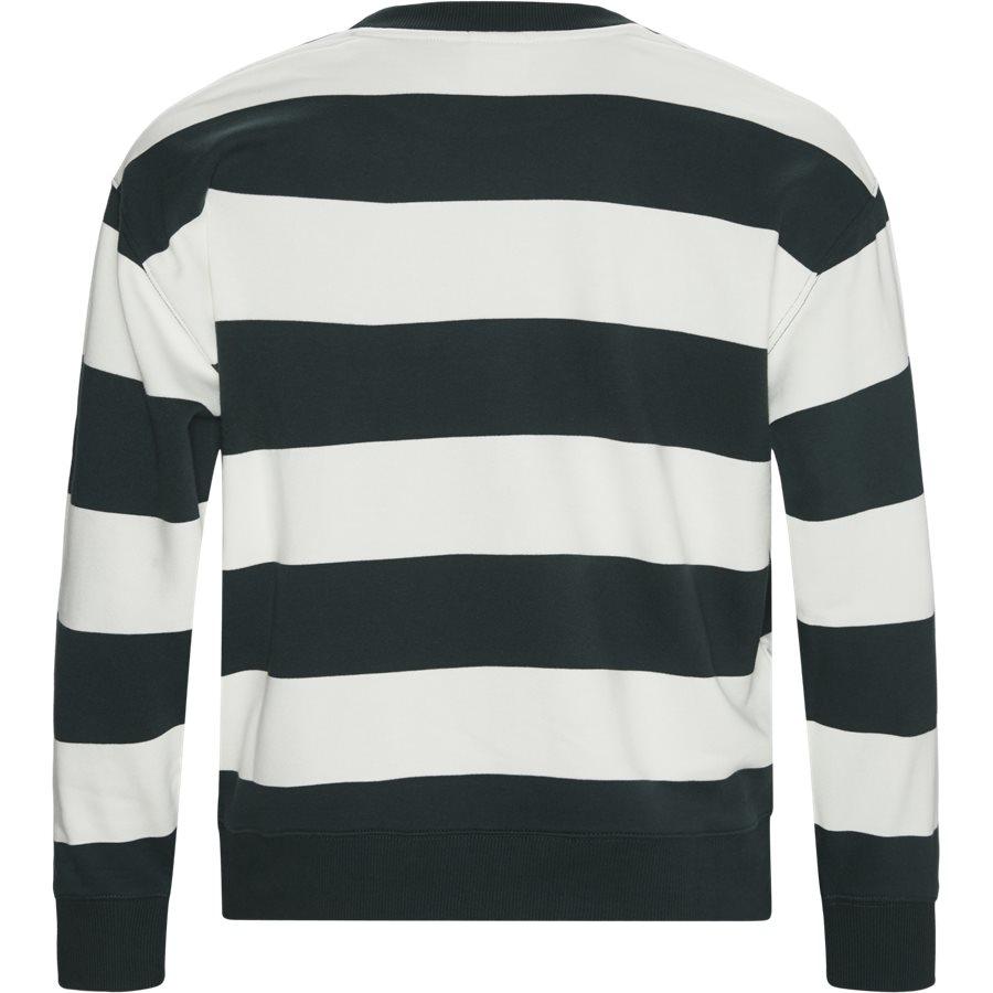 SH8142 - Embroidered Striped Fleece Sweatshirt - Sweatshirts - Regular - GRØN - 2