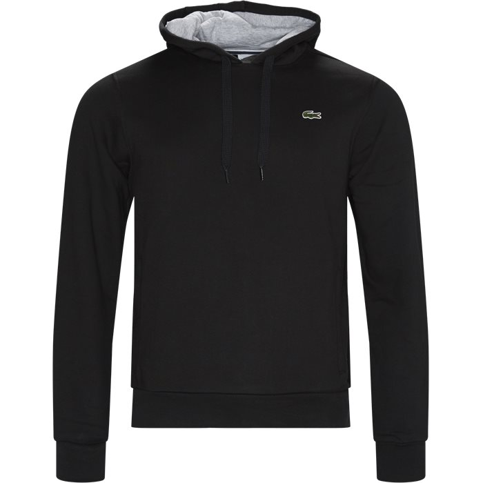 Sport Hooded Fleece Tennis Sweatshirt - Sweatshirts - Regular - Sort