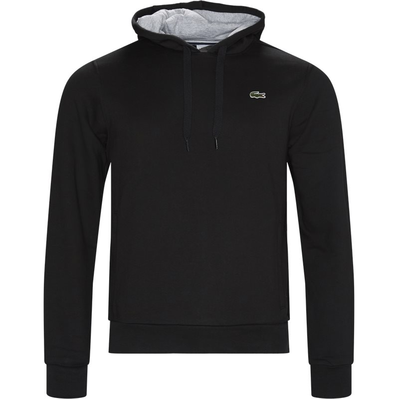 lacoste – Lacoste sport hooded fleece tennis sweatshirt sort på quint.dk