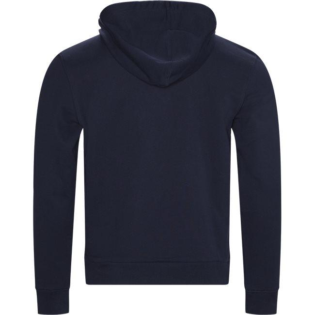 Embroidered Logo And Kangaroo Pocket Hooded Fleece Sweatshirt